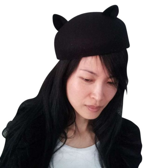 Preload https://item3.tradesy.com/images/black-or-red-cat-ear-felt-dome-hat-396962-0-0.jpg?width=440&height=440
