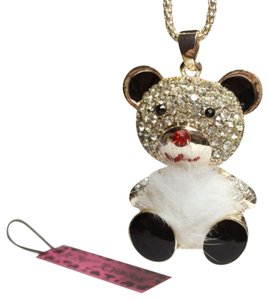 Betsey Johnson New Betsey Johnson Fuzzy Bear Pendant Necklace J1007