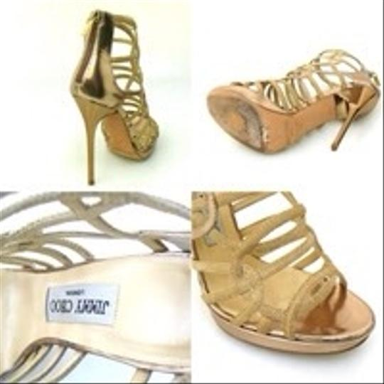 Jimmy Choo Gold Sandals
