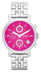 Fossil Fossil Boyfriend ES3572 Stainless Pink Dial Chronograph Womens Watch