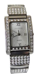 Joan Rivers Joan Rivers Classics Crystal Silvertone Watch