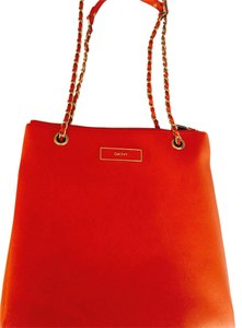 DKNY Orange Messenger Bag
