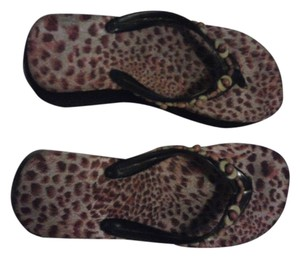 Avon Fashions animal print--neutral colors Wedges