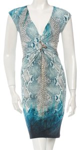 Roberto Cavalli Snakeskin Animal Print Print Sleeveless Dress