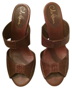 Cole Haan Summer Wedges Comfort Brown Sandals