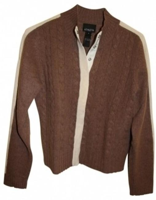 Preload https://item5.tradesy.com/images/athleta-brown-w-cream-stripe-cashmere-w-snap-front-cardigan-size-8-m-39709-0-0.jpg?width=400&height=650