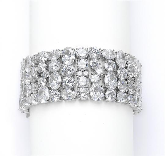 Mariell Silver Couture Cubic Zirconia Pageant Faux Diamond Bling 3617b Bracelets