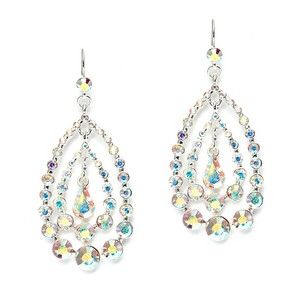 Mariell Concentric Ab Crystal Teardrops Dangle Earrings 3679e-ab