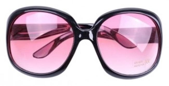 Item - Black with Pink Tint Hello Hollywood Sunglasses