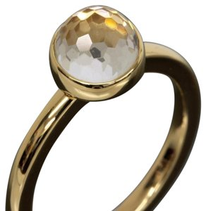 rugiada RUGIADA 18K Yellow Gold Quartz Solitaire Ring