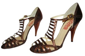 Michael Kors Strappy Metallic Copper Pumps