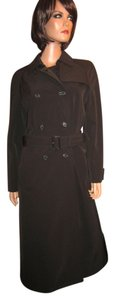 Prada Leather Full Length Raincoat Trench Trench Coat