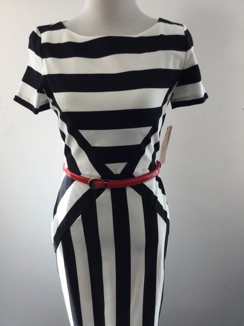 Nue by Shani Striped Cocktail Dress