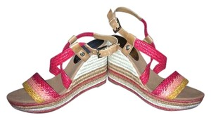 Ivanka Trump Wedge Multi Coral Strappy CORAL MULTI Sandals