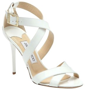 Jimmy Choo White Parent Leather Sandals