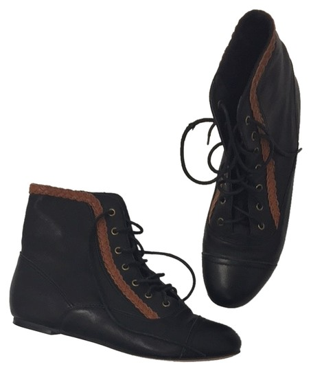 Shellys Black & Brown Boots