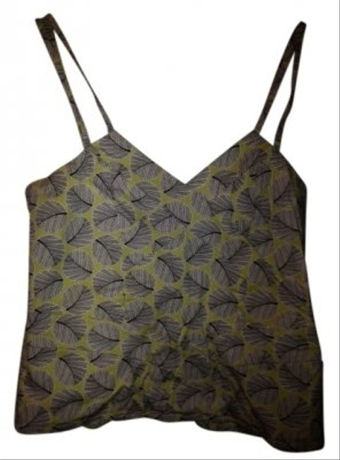 Odille Strappy Fitted Top Green-Yellow/Black/White