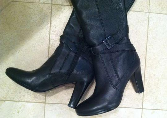 Cole Haan Made In Brazil Leather Knee High Reduced black Boots