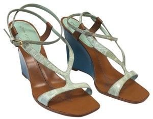 Louis Vuitton Green Blue Wedges