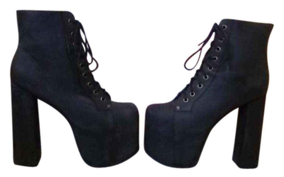 5c5f208b6ac Jeffrey Campbell Washed Black Big Lita Boots Booties Size US 8 - Tradesy