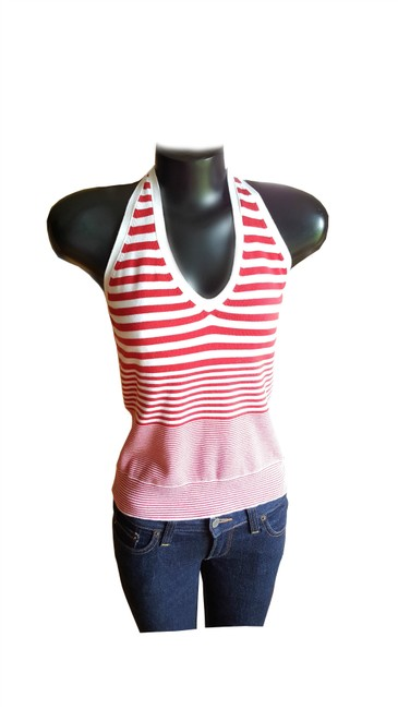 Gap Halter Red and White stripe Halter Top
