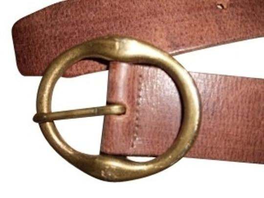 JC Penney Brown belt with gold belt buckle