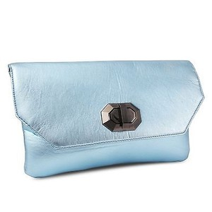 Other Miadora Naomi Metallic Ice Flap Closure Wallet Blue Clutch