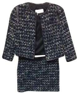Derek Lam Derek Lam Navy Tweed Jacket And Mini Skirt