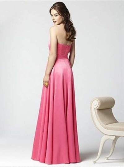 Dessy Pink Satin 2855 Formal Bridesmaid/Mob Dress Size 12 (L)