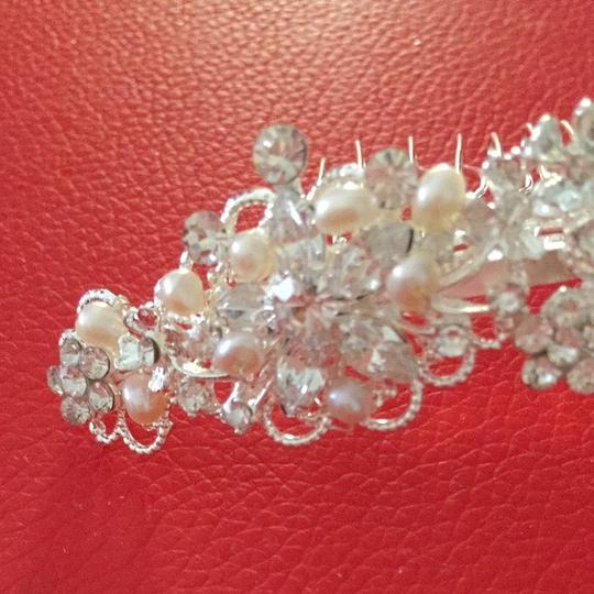 Bel Aire Bridal Silver Crown For Bride To Be Hair Accessory