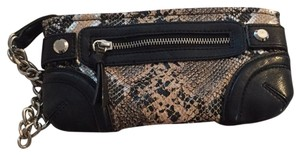 Express Wristlet in Snake Skin And Black