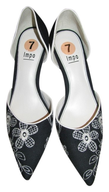 Item - Black with Cream Flowers Formal Shoes Size US 7 Regular (M, B)