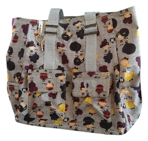 Harajuku Lovers Funky Colorful Fun Gwen Seftani Chibi Tote in Multi-Color; Grey
