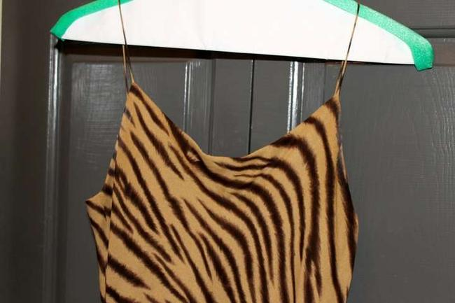Jones New York short dress Tan/Brown Animal Print on Tradesy