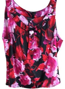 St. John Top Black/red/pink