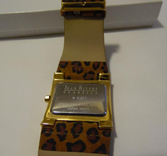 Joan Rivers Joan Rivers Wide Face Leather Leopard Print Watch