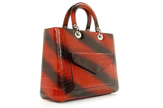 Dior Lady Tote in Red
