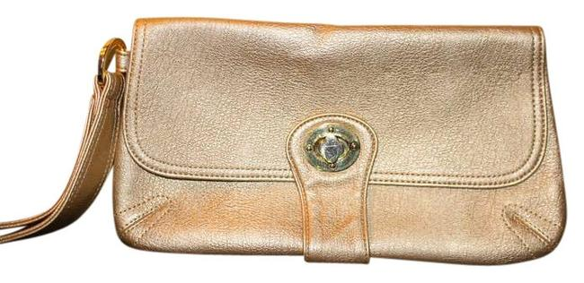 Item - Gold Synthetic Leather Clutch