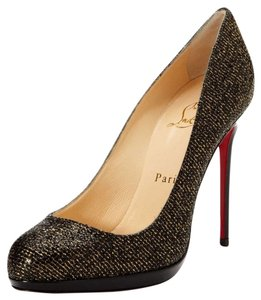 Christian Louboutin Gold Black Black/Gold Pumps
