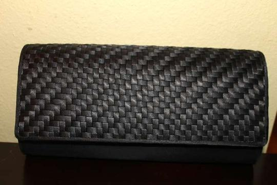 Preston & York Black Snake-Skin Clutch