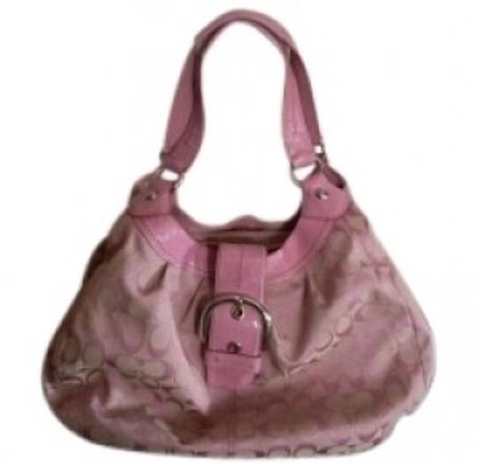 Preload https://item3.tradesy.com/images/coach-purse-pink-signature-fabric-with-leather-trim-satchel-39792-0-0.jpg?width=440&height=440