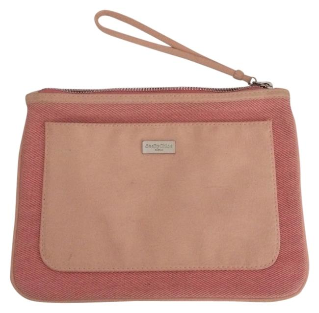Item - Coral Peach Pink See By Pouch Cosmetic Bag
