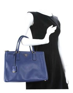Prada Saffiano Tote in Blue