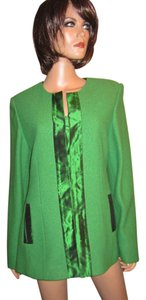 Paola Quadretti Hand-made Italy Wool Silk Green Blazer