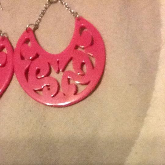 Other Pink Lucite Dangle Earrings