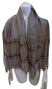 Gucci Gucci Diamante GUCCISSIMA GG Fringe Shawl/scarf/Wrap Cover Up 52
