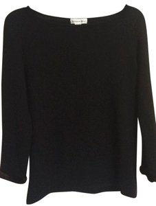 Katherine Kelly Mink Black 100% Cashmere Sweater