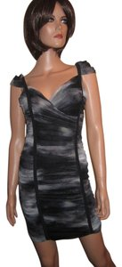 BCBGMAXAZRIA Mesh Bodycon Wiggle Dress