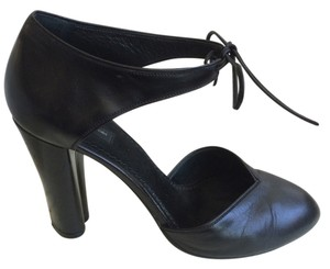 Marc Jacobs Leather Ankle Strap Designer Black Pumps