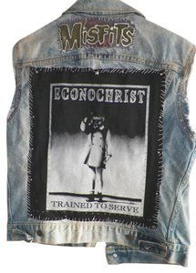 Punk Econochrist Denim Vest